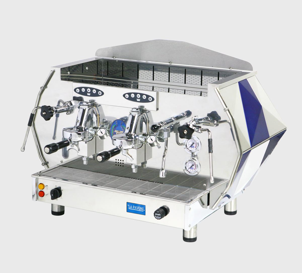 la pavoni diamante 2 group sv automatic електронна професионална кафемашина с 2 групи с ретро дизайн